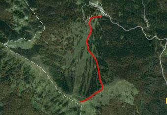 Orientacija na Lajnarja je lahka in ne terja gps tracka.