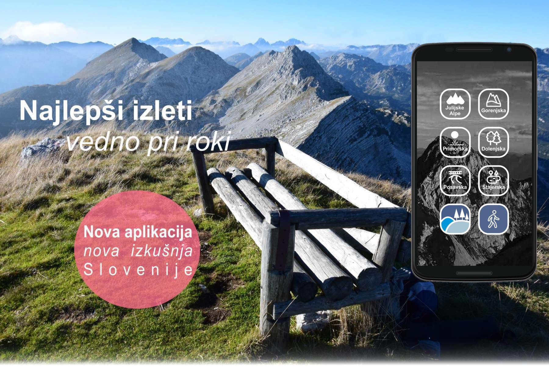 Reklamna fotografija za mobilno aplikacijo.