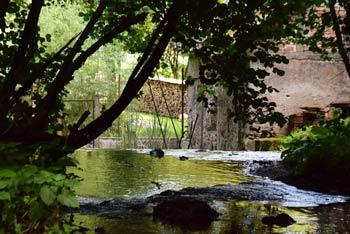 Izvir Frančiška teče v Stiški potok na katerem se še vedno nahajata dva mlina.