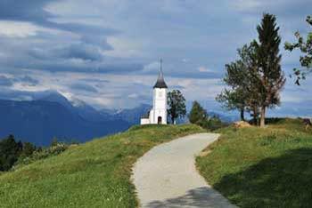 Jamnik je vasica na pobočjih Jelovice znana po od daleč vidni cerkvici svetega Primoža in Felicijana.