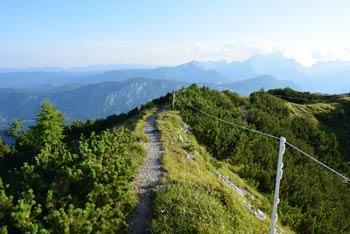 Klek ima grebenast vrh med Dovško Babo in Golico, preko njega pa lahko naredimo dolgo krožno pot.