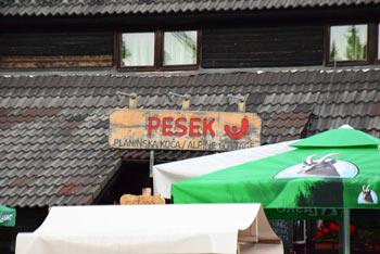 Planinska koča na Pesku se nahaja na Pohorju. Mimo nje vodi več pešpoti, od katerih se jih več prične na Rogli.