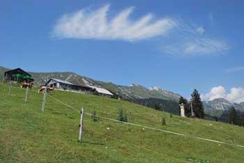 Dom na Kofcah je pribljubljena izletniška točka z razgledom na Košuto in Savsko ravan.