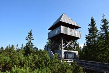 Razgledni stolp na Lovrenških jezerih bo še posebej všeč otrokom.