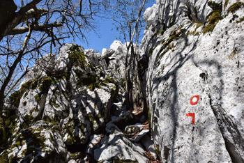 Medvižica je kamnita soseda od Ostriča in Razsušice.