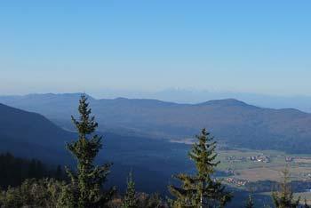 Mestni vrh je na vzhodnih pobočjih Velike gore blizu Fridrihštajna.