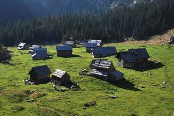 Planina v Lazu se nahaja pod visokom Debelim vrhom in brezpotno goro Ogradi.