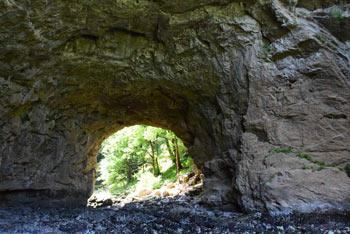Rakov Škocjan je znan po Velikem naravnem mostu pod katerim teče reka Rak, ki se izliva v Tkalco jamo.