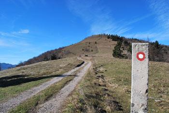 Markirana pot na Špilnik nas vodi preko strmega Lipovca.