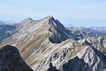 Vrh Krnic ima zelo lep razgled na zahodni greben Spodnjih Bohinjskih gora ter južno vse do Jadranskega morja.