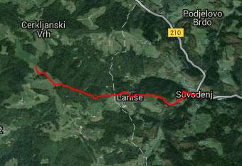 GPS sled prikazuje tudi za nekoliko starejše otroke primerno pot na Bevkov vrh.