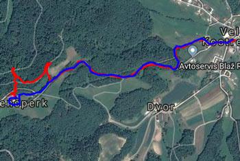 GPS sled prikazuje planinsko pešpot do gradu Bogenšperk. Še prej naredimo ovinek do kapelice Marije Pomočnice, ki so jo po legendi postavili vitezi Templjarji.
