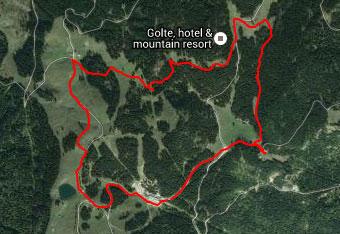 Krožna pot po razgibani planoti Golte s pomočjo gps sledi.