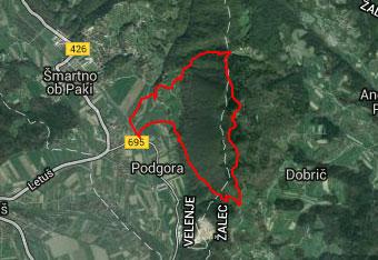 GPS track nam koristi prav na poti na goro Oljko.