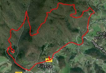 Uporaba GPS sledi je na gozdni poti Pišece zelo priporočljiva.