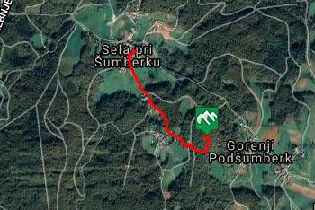 GPS sled kaže kratek izlet do razvalin gradu Šumberk.