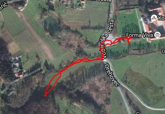 Za izlet do izvira Obrh uporabimo zgolj cestno navigacijo.
