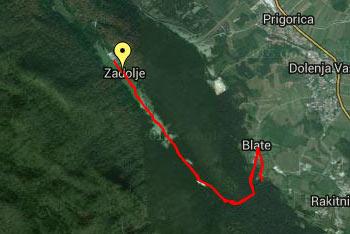 Orientacija je lahka tudi samo po opisu poti, saj ves čas hodimo po kolovozu ali gozdni makdamski cesti, zato gps navigacija ni nujno potrebna.