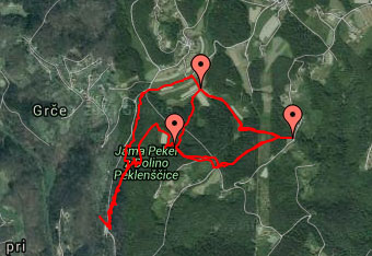 Na slikoviti krožni poti okoli jame Pekel nam bo GPS sled prišla zelo prav.