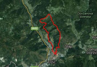 Pot na Štefanjo goro je lepo označena, vendar nam gps sled vseeno pride prav.