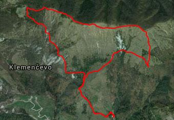 GPS sled nas vodi do cerkve na Uršlji gori.