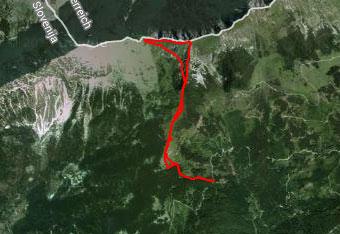 Orientacija na Kofci gori je lahka zato gps track vzamemo zgolj za vsak slučaj.