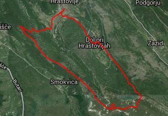 Dolgo pot preko Kuka in Lačne nam olajša gps track.