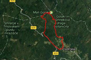 Orienatacija po pretežno gozdni poti do Malega Golaka je lahka, saj je pot ves čas dobro nadelana in označena z markacijami.