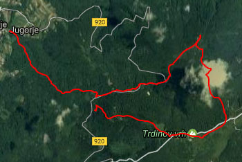 Pot do Miklavža na Gorjancih je lahka in GPS navigacije načeloma ne potrebujemo.