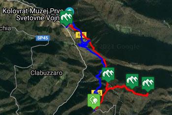 GPS sled prikazuje izvrstno krožno pot, ki nas od Planinskega doma pod Ježo pripelje na hrib Na gradu.