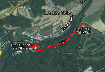 Za sprehod od gradu Otočec do gradu Struga ne potrebujemo gps navigacije.