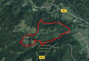 GPS signal zelo težko prodre v Pokljuško sotesko.