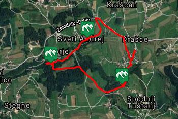 Krožna pešpot ob reki Rači v Moravški dolini se prične v vasi Krašce.