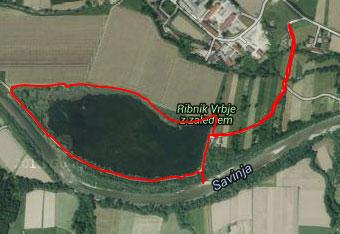 Vrbje je miren sprehod okoli jezera zato uporabimo gps aplikacijo do izhodišča.