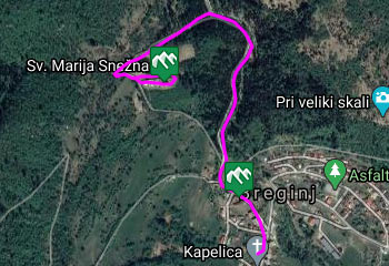 GPS sled kaže lokacijo, kjer se nahaja vasica Robidišče.