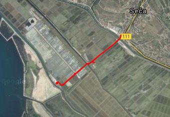 Pri Sečoveljskih solinah uporabimo gps navigacijo zgolj do izhodišča.