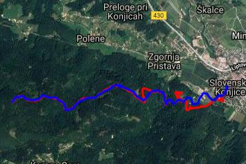 Grad Konjice se nahaja na pobočjih Konjiške gore na poti na Stolpnik.