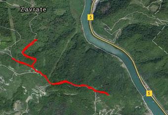 GPS track nas pripelje do Svinjskega rta.