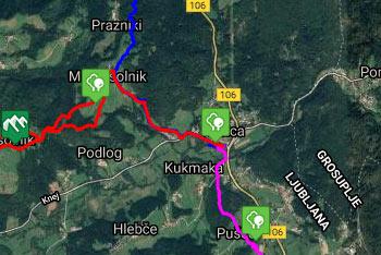 Izlet po Trubarjevi domačiji ne zahteva gps navigacije, saj se sprehajamo po lepem parkovnem gozdu ob reki Rašici.