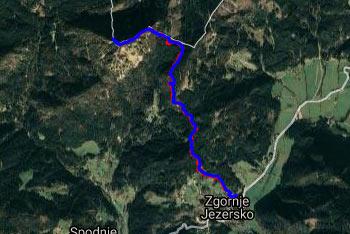 GPS sled nas vodi na Virnikov Grintovec.