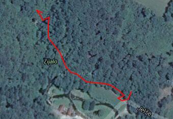 Do Zijala, izvira reke Temenice se lahko sprehodimo tudi brez gps sledi.