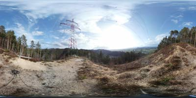 Panorama posneta na Lazarjevem vrhu, ki se nahaja nad sotočjem treh rek, Ljubljanice, Save in Kamniške Bistrice.