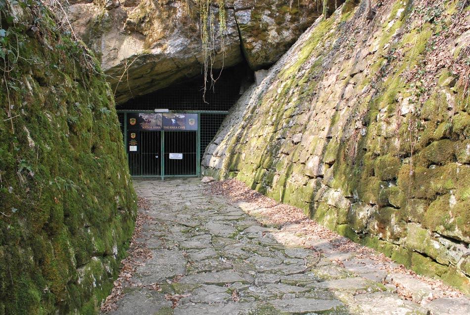 Krška jama, ki je hkrati tudi izvir reke Krke.
