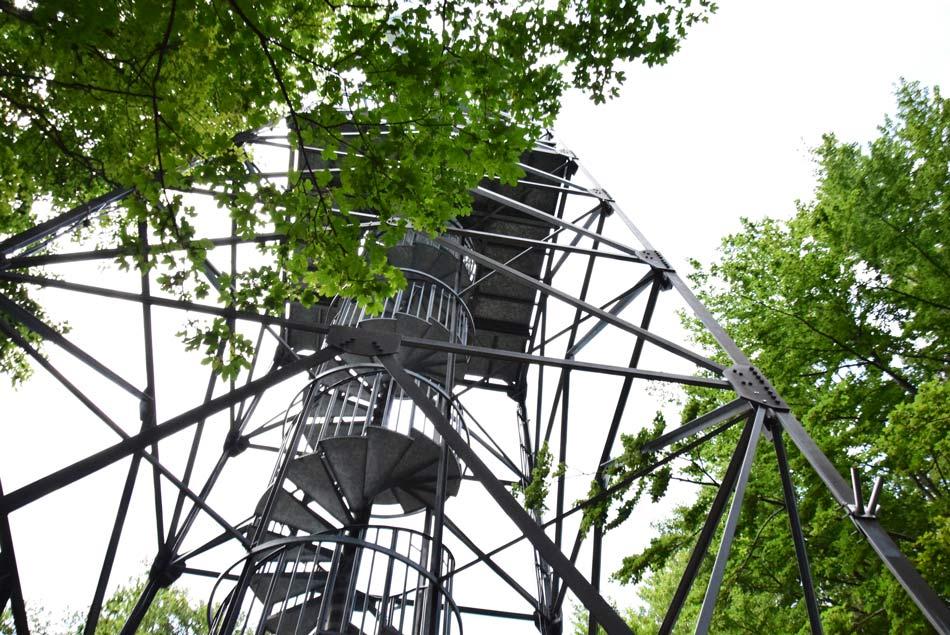 Na Stolpniku se nahaja visok razgledni stolp s katerega se lepo vidijo pobočja Pohorja in Rogle.