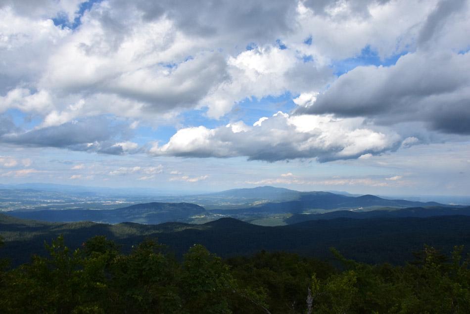 Kočevski gozdovi so z razglednega stolpa na Velikem Rogu kot na dlani.