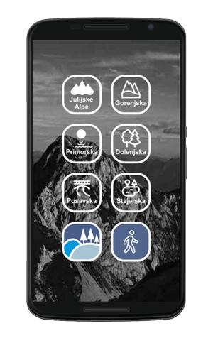 Banner za pohodniško mobilno aplikacijo Izleti po Sloveniji.