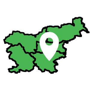 Pregled izletov po gps sledeh na zemljevidu Slovenije.